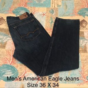 Men's American Eagle Relaxed Straight Jeans 36x34